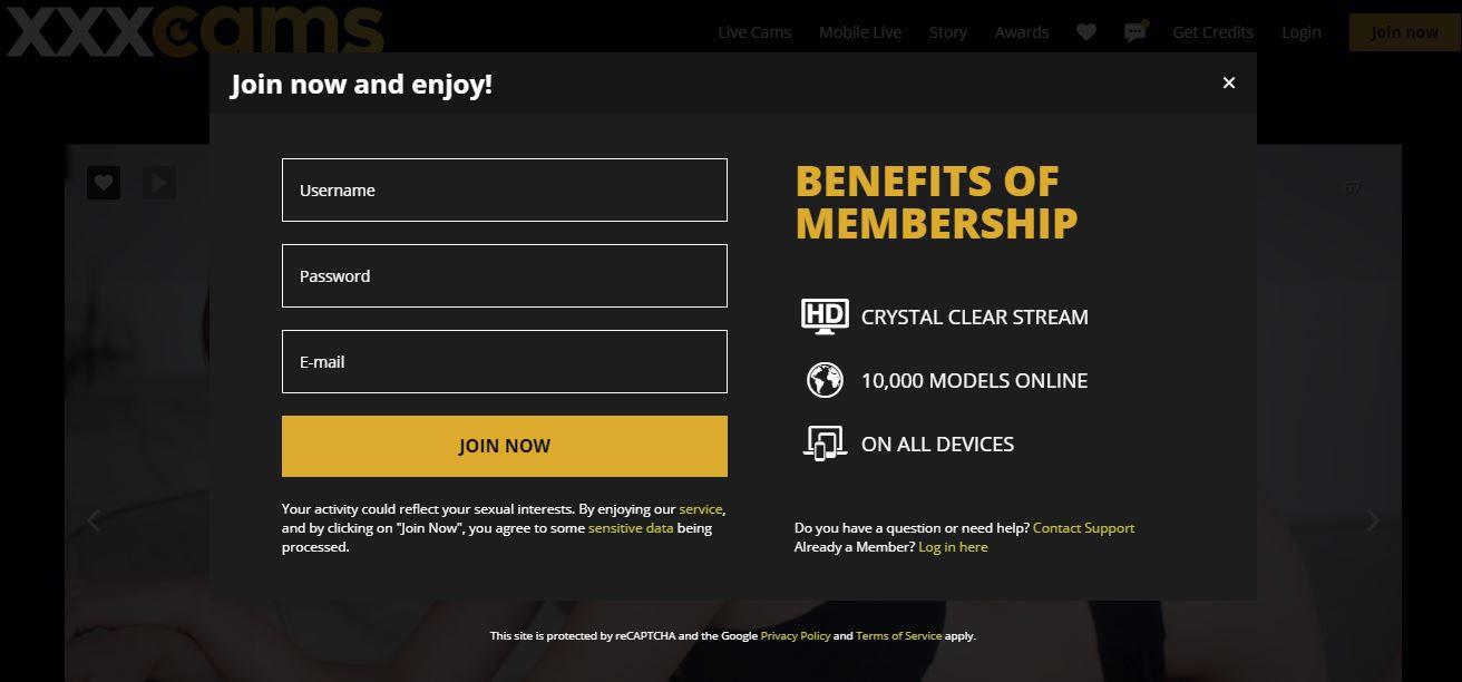 xxxcams registration premium