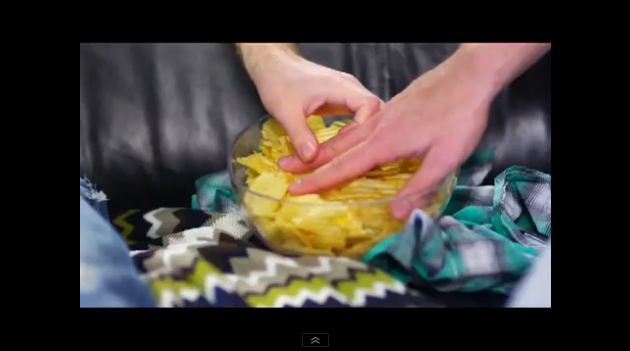 Two gay hands in the chips bowl