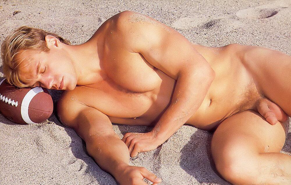 Naked on the beach as a Football dream