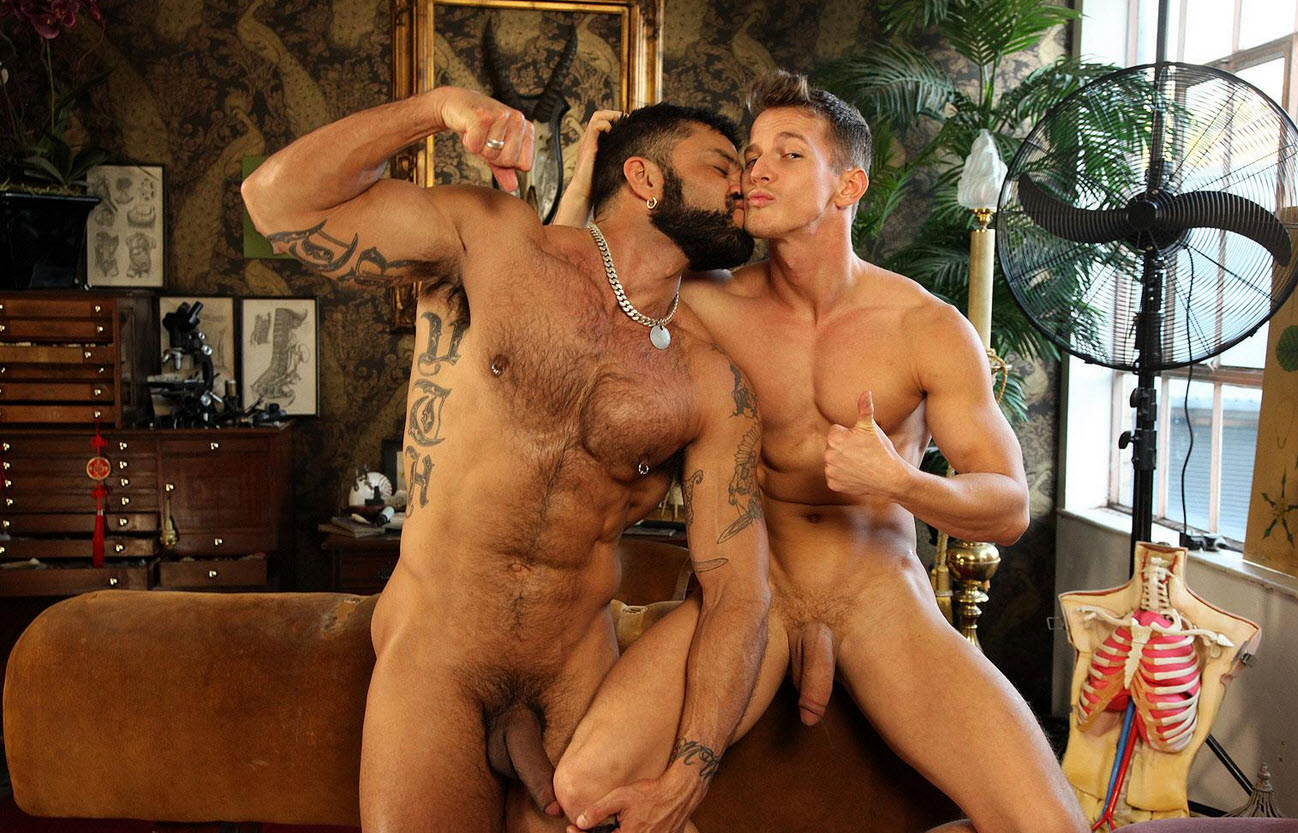 Hairy muscle exotic guy with a huge uncut dick fucks a fit muscle ass 11